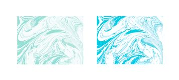 Διανυσματικό μαρμάρινο αφηρημένο υπόβαθρο Υγρό μαρμάρινο σχέδιο Καθιερώνον τη μόδα πρότυπο Στοκ Φωτογραφίες