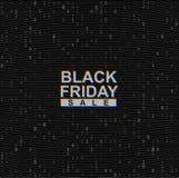 Διανυσματικό μαύρο έμβλημα Ιστού πώλησης Παρασκευής στο σκοτεινό υπόβαθρο δυαδικού κώδικα Σε απευθείας σύνδεση έννοια στοιχείων α απεικόνιση αποθεμάτων