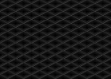 Διανυσματικό μαύρο αποτυπωμένο σε ανάγλυφο άνευ ραφής υπόβαθρο πλέγματος σχεδίων πλαστικό Ατελείωτη σύσταση κυττάρων μορφής διαμα Στοκ Εικόνες