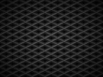 Διανυσματικό μαύρο αποτυπωμένο σε ανάγλυφο υπόβαθρο πλέγματος σχεδίων πλαστικό Σκοτεινό γεωμετρικό σχέδιο κυττάρων μορφής διαμαντ Στοκ φωτογραφία με δικαίωμα ελεύθερης χρήσης