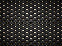 Διανυσματικό μαύρο αποτυπωμένο σε ανάγλυφο υπόβαθρο πλέγματος σχεδίων πλαστικό με το χρυσό στοιχείο ενθέτων Σκοτεινός γεωμετρικός Στοκ Εικόνες