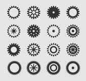 Διανυσματικό μαύρο gearwheel Στοκ εικόνες με δικαίωμα ελεύθερης χρήσης