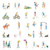 Διανυσματικό μεγάλο σύνολο ανθρώπων Στοκ εικόνα με δικαίωμα ελεύθερης χρήσης