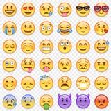 Διανυσματικό μεγάλο σύνολο Emoticon Στοκ Φωτογραφία
