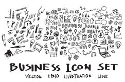 Διανυσματικό μελάνι eps10 επιχειρησιακών doodles σκίτσων Στοκ φωτογραφία με δικαίωμα ελεύθερης χρήσης