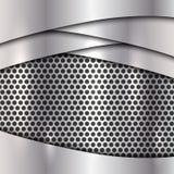 Διανυσματικό μεταλλικό ασημένιο υπόβαθρο κυττάρων Στοκ φωτογραφία με δικαίωμα ελεύθερης χρήσης
