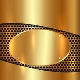 Διανυσματικό μεταλλικό χρυσό διακοσμητικό υπόβαθρο Στοκ Φωτογραφίες