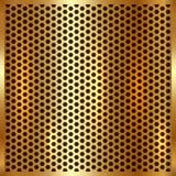 Διανυσματικό μεταλλικό χρυσό υπόβαθρο κυττάρων Στοκ Εικόνες