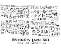 Διανυσματικό μελάνι eps10 επιχειρησιακών doodles σκίτσων Στοκ Φωτογραφία