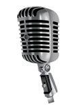 Διανυσματικό μικρόφωνο Στοκ Εικόνες