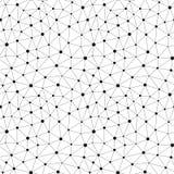 Διανυσματικό μονοχρωματικό άνευ ραφής σχέδιο Ανώμαλη αφηρημένη σύσταση Στοκ Εικόνα