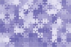 Διανυσματικό μπλε τορνευτικό πριόνι 150 κομματιών γρίφων Στοκ εικόνα με δικαίωμα ελεύθερης χρήσης