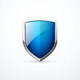 Διανυσματικό μπλε εικονίδιο ασπίδων Στοκ Φωτογραφία