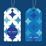 Διανυσματικό μπλε μαρμάρινο κάθετο στρογγυλό πλαίσιο κεραμιδιών Στοκ Εικόνες