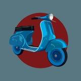 Διανυσματικό μπλε μηχανικό δίκυκλο Στοκ Φωτογραφίες