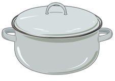 Διανυσματικό νέο τηγάνι για την κουζίνα Στοκ Φωτογραφίες
