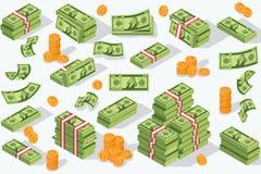 Διανυσματικό νόμισμα χρημάτων απεικόνιση αποθεμάτων