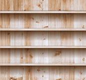 Διανυσματικό ξύλινο ράφι απεικόνιση αποθεμάτων