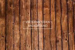 Διανυσματικό ξύλινο υπόβαθρο Στοκ Εικόνες