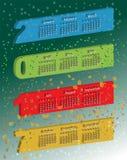 Διανυσματικό ογκομετρικό τρισδιάστατο ημερολόγιο χρώματος Στοκ Εικόνες