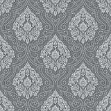 Διανυσματικό ογκομετρικό damask άνευ ραφής υπόβαθρο σχεδίων Κομψή αποτυπωμένη σε ανάγλυφο πολυτέλεια σύσταση για τις ταπετσαρίες, Στοκ Εικόνες