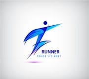 Διανυσματικό λογότυπο αθλητών, ανθρώπινο εικονίδιο, δρομέας, ηγέτης, επιχείρηση διανυσματική απεικόνιση