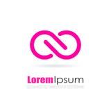 Διανυσματικό λογότυπο απείρου Στοκ εικόνα με δικαίωμα ελεύθερης χρήσης