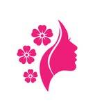 Διανυσματικό λογότυπο για τα σαλόνια και τα καταστήματα γυναικών Στοκ εικόνες με δικαίωμα ελεύθερης χρήσης