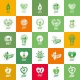 Διανυσματικό λογότυπο για τη διατροφή διανυσματική απεικόνιση