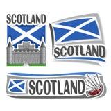 Διανυσματικό λογότυπο για τη Σκωτία διανυσματική απεικόνιση