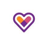 Διανυσματικό λογότυπο εικονιδίων καρδιών ελεύθερη απεικόνιση δικαιώματος