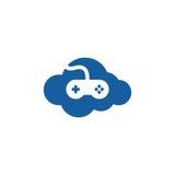 Διανυσματικό λογότυπο εικονιδίων παιχνιδιών σύννεφων απεικόνιση αποθεμάτων