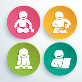 Διανυσματικό λογότυπο της λέσχης ανάπτυξης παιδιών στοκ εικόνες