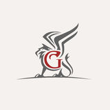 Διανυσματικό λογότυπο του Griffin Στοκ φωτογραφίες με δικαίωμα ελεύθερης χρήσης
