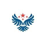 Διανυσματικό λογότυπο φτερών αστεριών Στοκ φωτογραφίες με δικαίωμα ελεύθερης χρήσης