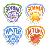 Διανυσματικό λογότυπο Four Seasons Ελεύθερη απεικόνιση δικαιώματος