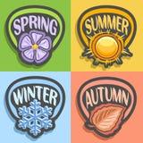 Διανυσματικό λογότυπο Four Seasons Απεικόνιση αποθεμάτων