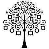 Διανυσματικό οικογενειακό δέντρο Πρότυπο Στοκ εικόνα με δικαίωμα ελεύθερης χρήσης