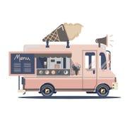 Διανυσματικό παγωτό φορτηγών Στοκ Εικόνες
