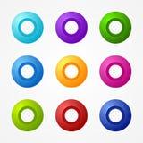 Διανυσματικό πακέτο κουμπιών Ιστού Στοκ Εικόνα