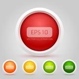 Διανυσματικό πακέτο κουμπιών Ιστού Στοκ Εικόνες
