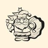 Διανυσματικό παλαιό συρμένο χέρι σκίτσο Santa Στοκ εικόνες με δικαίωμα ελεύθερης χρήσης