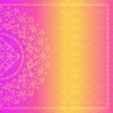 Διανυσματικό περίκομψο υπόβαθρο στο ινδικό ύφος floral διάνυσμα απεικόνισης στοιχείων σχεδίου Εκλεκτής ποιότητας πλαίσιο τέχνης γ διανυσματική απεικόνιση