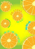 Διανυσματικό πορτοκαλί αφηρημένο υπόβαθρο Στοκ Εικόνα