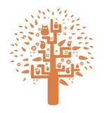 Διανυσματικό πορτοκαλί δέντρο Στοκ φωτογραφία με δικαίωμα ελεύθερης χρήσης