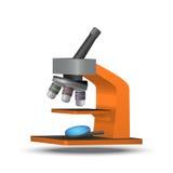 Διανυσματικό πορτοκαλί μικροσκόπιο απεικόνιση αποθεμάτων