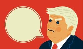 Διανυσματικό πορτρέτο καρικατουρών απεικόνισης Προέδρου Ντόναλντ Τραμπ