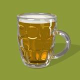 Διανυσματικό ποτήρι της μπύρας Στοκ Εικόνες