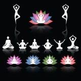 Διανυσματικό πολύχρωμο λογότυπο Lotus Στοκ Εικόνες