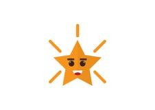 Διανυσματικό πράσινο αστέρι γυαλιού Στοκ Φωτογραφία